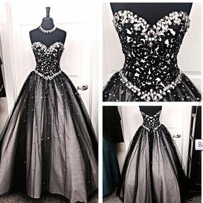 Back Up Lace Long Ball Gowns Prom D..