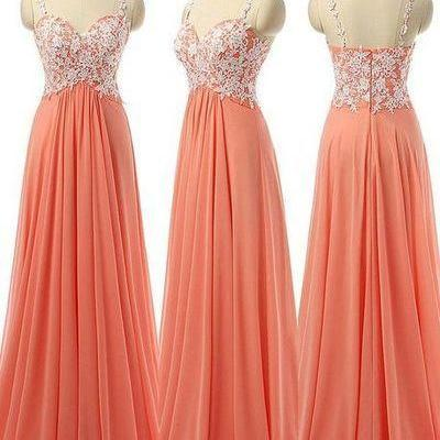 Beauty Long Chiffon Prom Dresses,Ch..