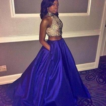 2016 Royal Blue Prom Dresses,Two Pi..