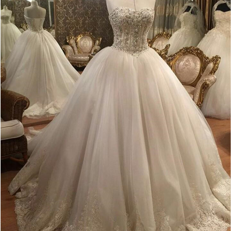 pearl beaded lace wedding dress,ball gowns wedding dress,wedding dress 2016