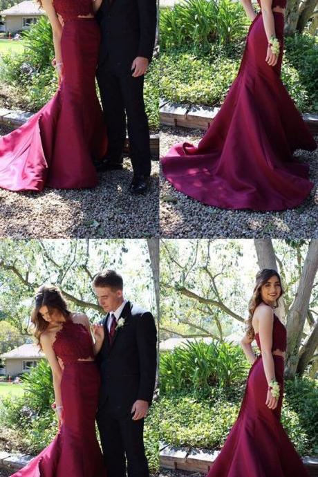 High Low Prom Dress, Simple Satin cut Prom Dresses, Cheap Party Dress, Strapless Cocktail Dress