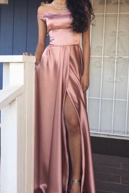 Boat Neckline Prom Dress,Simple Prom Dress,Cheap Prom Dress,Long Prom Dresses,Prom Dresses For Teens,Evening Dresses,Party Dresses