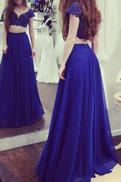 Halter Beaded Sparkly 2 Pieces Prom Dresses,Purple Jersey Mermaid Prom Gowns,Shinny Formal Dresses