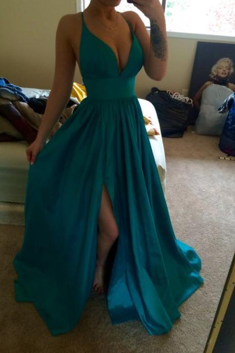 Charming Prom Dress, Sexy Prom Dresses, Sleeveless Prom Dresses, Long Prom Dress, Evening Formal Dress