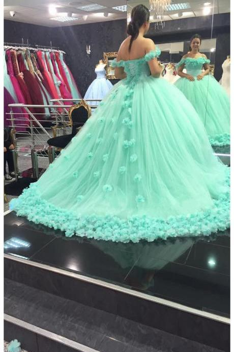New Arrival Prom Dress,Modest Prom Dress,mint green quinceanera dress,ball gowns wedding dress,mint green prom dress,quinceanera dress 2017,wedding gowns 2017