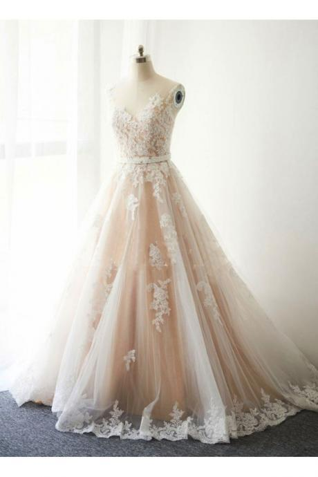 LACE, UNIQUE QPROM SEXY WEDDING DRESSES FASHION PROM DRESS