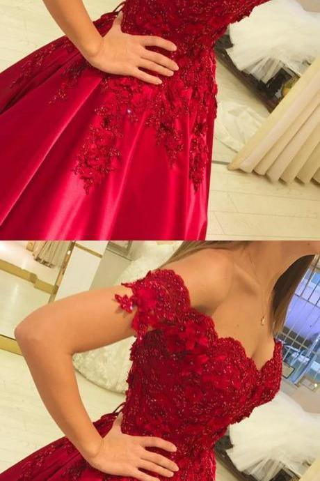 Red Wedding Dresses,Ball Gowns Wedding Dresses,Ball Gowns Prom Dresses