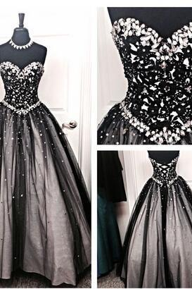 Back Up Lace Long Ball Gowns Prom Dresses,Modest Evening Dresses, Sweetheart Party Prom Dresses,Formal Prom Gowns