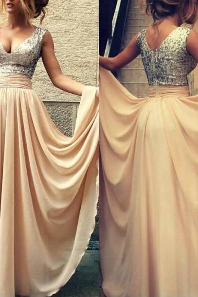 Sparkle Sequin Bridesmaid Prom Dress 2016 ,Champagne Mint Bridesmaid Dress,Prom Dresses,Champagne Sequin Evening Prom Dress 2016,Bridesmaid Dress Prom
