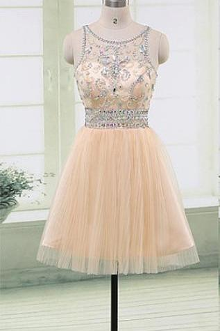 Cap Sleeves Beading Short Homecoming Dresses,Pretty Sparkly Homecoming Dress,Modest Graduation Dress,Cocktail Dresses,Homecoming Dress 2016