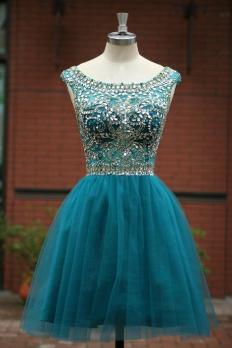Simple V-neck Mint Homeocming Dresses,Cute Graduation Dresses,Open Back Cocktail DressesOpen Back Beading Homecoming Dresses,Beautiful Cocktail Dresses,Cheap Graduation Dresses For Teens