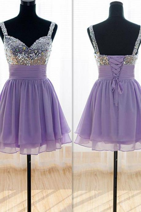 New Arrival Beading Homecoming Dresses,V-Neck Lace-up Graduation Dresses,Homecoming Dress,Short/Mini Homecoming Dress