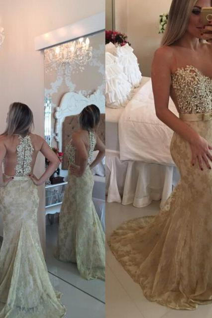 2016 Beading Prom Dresses, Sweetheart Floor-Length Evening Dresses, Real Made Evening Dresses,Lace Chiffon Sequins Evening Dresses, Evening Dresses On Sale