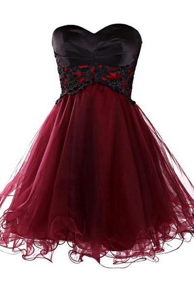 Hot Sale Swethenrt A Line Mini/Short Prom Dresses Lace Sequin Cloth Beaded Waist Ruffle Standard Code Party Dresses Bridesmaid Dresses