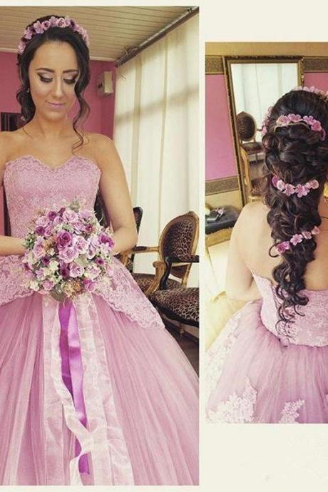 Lace-Up Wedding Dress, New Arrival Wedding Dress, Sweetheart Wedding Dresses, Ball Gown Wedding Dress,