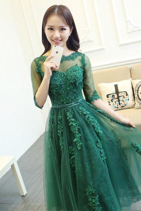 Green Prom Dress,Lace Prom Dress,Sheer Prom Dress,Backless Prom Dress,Sexy Prom Dress,Party Dress
