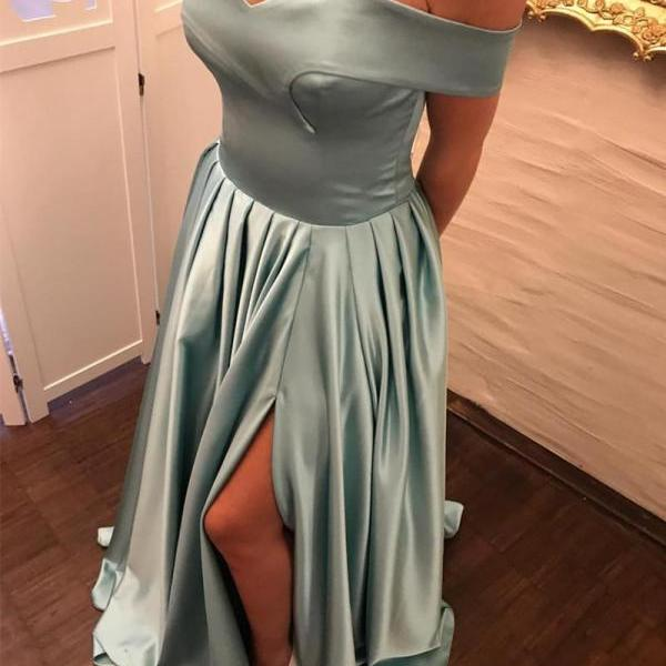 Satin Prom Dress, Simple Prom Evening Dress, Custom Made Prom Dresses, Prom Dresses 2018