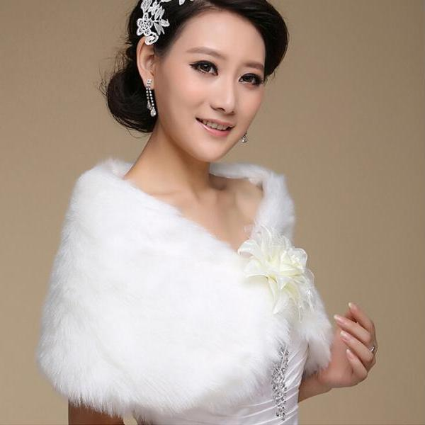2015 new women's clothing accessories warm Plush wedding dress elegant shawl manufacturers wholesale