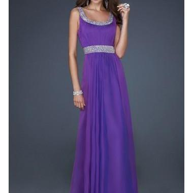 A-line Spaghetti Straps Sleeveless Chiffon Prom Dresses/Evening Gowns With Beaded Bridal Gowns Sleeve prom gowns