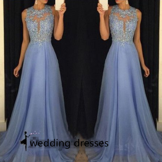 ong prom dresses 2016, light purple prom dresses, scoop prom dresses with lace appliques