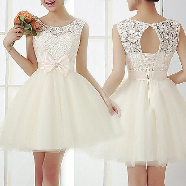 Fashion Embroidery Crochet Lace Dress